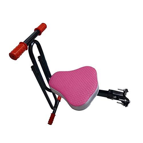 RONGJJ Kinderfahrradsitz, Kinderfahrradsitz Sicherer Vorderer Fahrradsitz Sicherheit Und Bequemes Schnelles Zerlegen Fahrrad Kindersitz Mountainbike Babysattelkissen, Pink, Pink