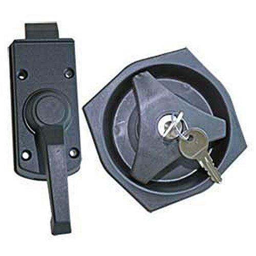 Pertemba Global Kit de cerrojo zurdo para interior y exterior (Talla Única/Negro)