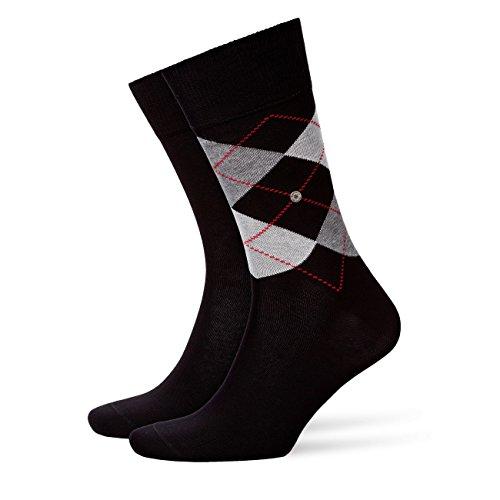Burlington Everyday 2-Pack Herren Socken black (3000) 40-46 aus weicher gekämmter Baumwolle