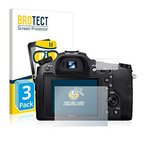 BROTECT Protector Pantalla Cristal Compatible con Sony Cyber-Shot DSC-RX10 IV Protector Pantalla Vidrio (3 Unidades) - Dureza Extrema, Anti-Huellas