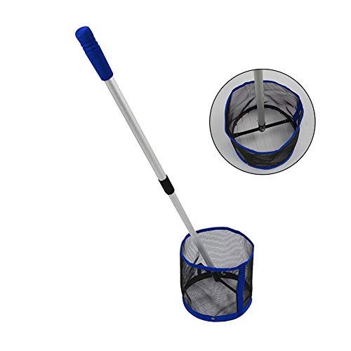 Find Discount Frjjthchy Adjustable Angle Table Tennis Ball Picker Upper Portable Ball Container for Picking and Storage (Blue)