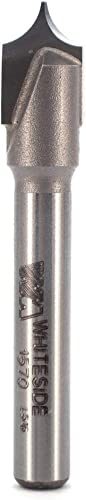 2021 Whiteside Router discount Bits 1570 Point Cutting outlet online sale Round Over Bit with 3/16-Inch Radius 3/8-Inch Cutting Diameter and 3/8-Inch Cutting Length sale