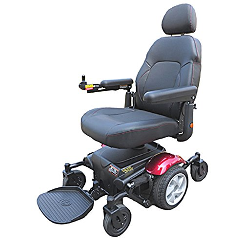 Review Merits Vision Sport P326A Mid-Wheel Drive Electric Powerchair 19W x 18D 300lbs Red