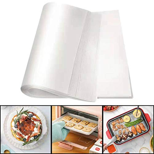 AiChef AIKEFOO 250 Sheets Pre-cut Parchment Paper,Non-Stick Oil-Absorbing Parchment Paper (9.5 X 16.5 Inches),Used For Baking, Grilling, Air Fryer, Cakes, Biscuits,For Quarter Sheet Pans