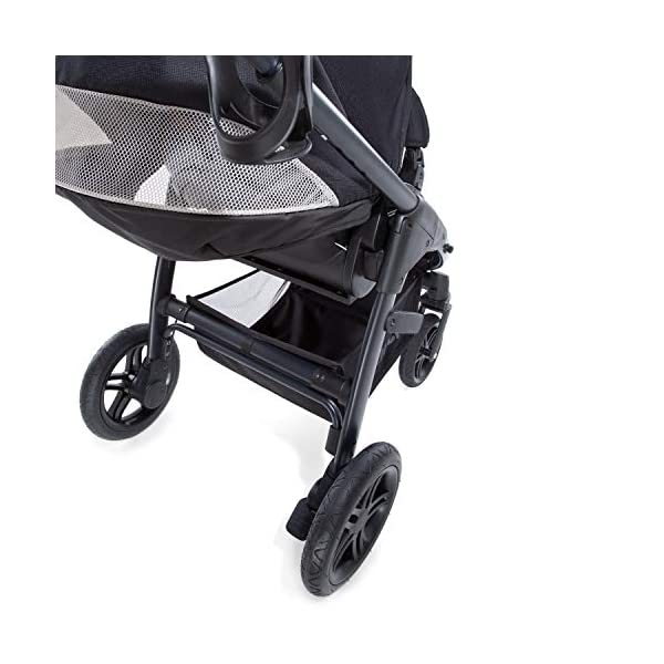 Hauck Hauck Unisex Promenade Chaises Black/Grey Hauck Maximum comfort: backrest and footrest adjustable to the lying position, extra large canopy, height adjustable handlebars, cup holders and foot covers All terrain: the stroller is suitable for both the city and the countryside thanks to the suspension, the high-quality rubber profile and the swivel and lockable front wheels. Swivel: The lightweight sports chair with removable front bar can be rotated towards parents or in moving direction easily in a few seconds. The chair supports a weight of up to 25 kg. 29