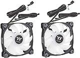 Thermaltake CL-F116-PL14SW-A Pure Duo 14 ARGB Sync Radiator Fan 2 Pack Black Fan