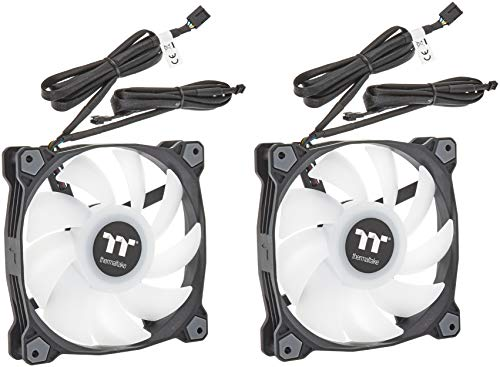 Thermaltake Pure Duo 14 ARGB Sync Radiator Fan 2 Pack Black Fan, CL-F116-PL14SW-A