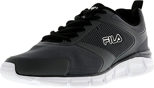 Fila Men's Memory Windstar Evo Castlerock/Black Metallic Silver Ankle-High Running Shoe - 8M