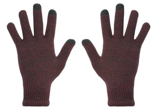 Hi-Fun Hi-Glove Classic Gants pour Ecran Tactile/Téléphone Portable/Smartphone/Tablette Homme Bordeaux