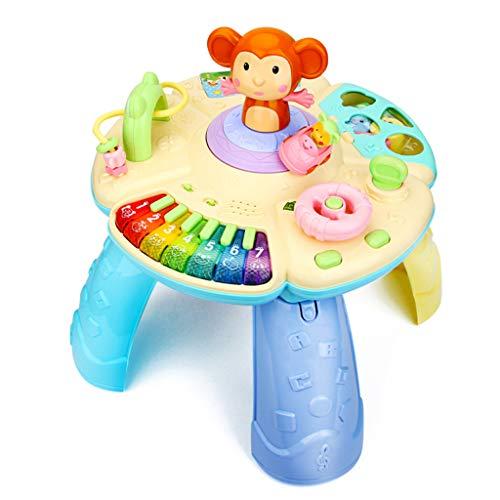 Jouets musicaux Table de jeu pour nourrissons Multi-fonction de jeux éducatifs pour la petite enfance Jouets éducatifs pour enfants 0-1-3 ans Jouets interactifs parent-enfant Donnez aux enfants le mei