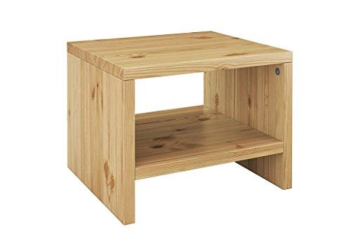 Erst-Holz Nachttisch Kiefer massiv modernes kubisches Nachtkästchen in offener Form 90.20-K5