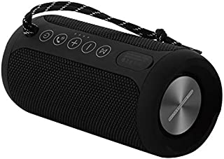 Bluetooth Portable Speaker, Louder Volume, Crystal Clear Stereo Sound, Rich Bass, Microphone, Dual-driver IPX5 Waterproof, Bluetooth 4.2 Speakers For Sports, Hiking, Outdoor Park (BLACK)