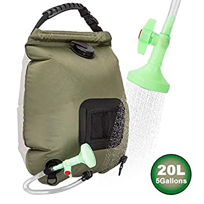 RuiMeer Camping Shower Bag 5 gallons/20L Solar Shower Bag for Outdoor Traveling Hiking Summer Shower
