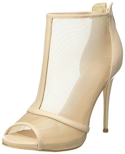 Guess Footwear Dress Shootie, Escarpins Bout Ouvert Femme, Ecru (Ivory Beige), 36 EU