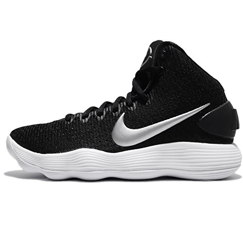 Nike Women's Hyperdunk 2017 TB Basketball Shoe Black/Metallic Silver/White Size 6.5 M US