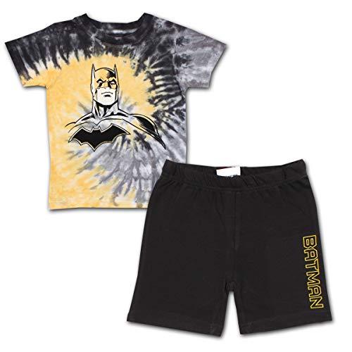 BATMAN  Boy's 2 Pack Short Sleeve Shirt and Short Set, Tie Dyed Tee, Size 6
