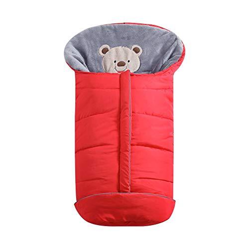 Warme Wimpelkette, universeller Kinderwagen-Schlafsack für kalte Wetter, wasserdicht, für Kleinkinder, Fußsack One Size rot