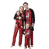 Alueeu Pijamas de Navidad Familia Conjunto Pantalon y Top Mujer Hombre Niños Niña Camisetas de Manga Larga Sudadera Chándal Suéter Casual Homewear