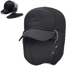 Winter Trapper Hats for Men Warm Trooper Hunting Hat with Ear Flaps Windproof Mask Ushanka Hat for Women (Grey)