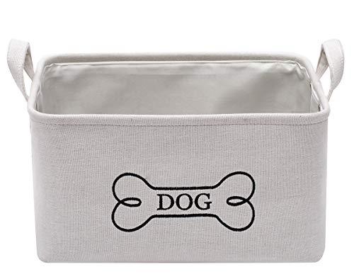 Hundespielzeugkorb aus Leinen, langlebig, ideal für die Organisation von Spielzeug, Decken, Leinen, Knochen und Leckerlis
