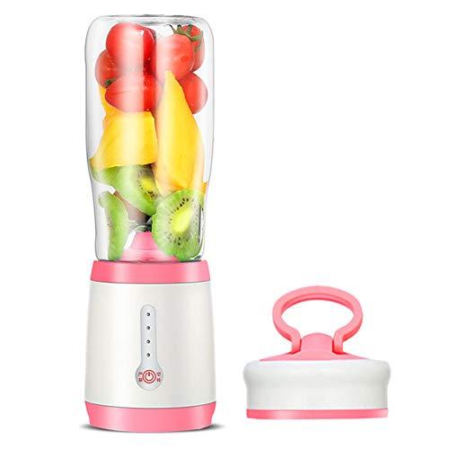 Blender Portable, Mini Singles Blenders Blender Mixer Avec USB Rechargeable De Glace (500 Ml, Pour Le Jus, Milkshake, Courges, Sauces, Aliments Pour Bébés),Rose
