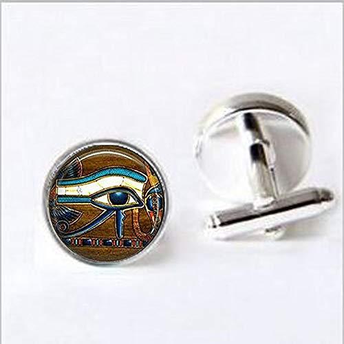 bab Llavero de cristal con diseño de ojo de Horus, llavero egipcio, ojo egipcio, joyería de azulejos de cristal egipcio, gemelos religiosos