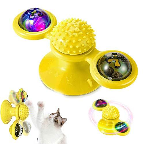 Katzenspielzeug,katzenspielzeug windmühle, interaktives necken Katzenspielzeug, Windmühle Plattenspieler necken Katzenspielzeug kratzen Haustierzubehör Verrücktes Spiel