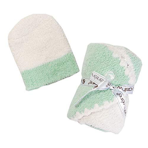 カシウェア(カシウエア)kashwere ベビーブランケット Baby Blanket-Rugby Center Stripe Aqua Creme [並行輸入品]
