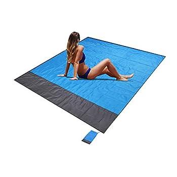 Couverture de plage, couverture de poche portable pliable légère imperméable de 79 x 83 pouces tapis de pique-nique surdimensionné pour jardin extérieur parc herbe voyage randonnée