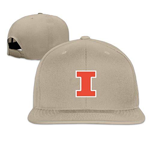 SHUIFENG66 Men Women UIUC Illinois Fighting Illini Truck Baseball Cap Snapback Lightgrey,Hüte, Mützen & Caps