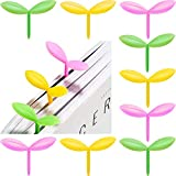 12 Pieces Little Green Yellow Pink Sprout Bookmarks Cute Silicone Sprouting Leaf Shape Bookmark Creative Little Bookmarks Silicone Buds Small Grass Cute Bookmark Decoration for Reading