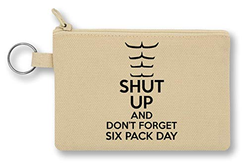 Shut Up and Don't Forget Six Pack Day portemonnee met ritssluiting