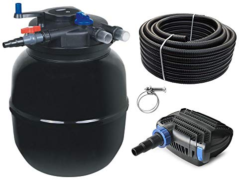 AquaOne Teich Filteranlage Set Nr.29 CPF 50000 Druckfilter 120W Eco Teichpumpe Teichgröße bis 80000l Teichschlauch Bachlauf UV Lampe