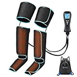Sotion Leg-Massager, Air-Compression for Circulation and Muscle Pain Relief with Digital Remote, Feet Calf Thigh Massage, Portable Relax Machine with 4 Modes&4 Intensities and 2 Heat Modes