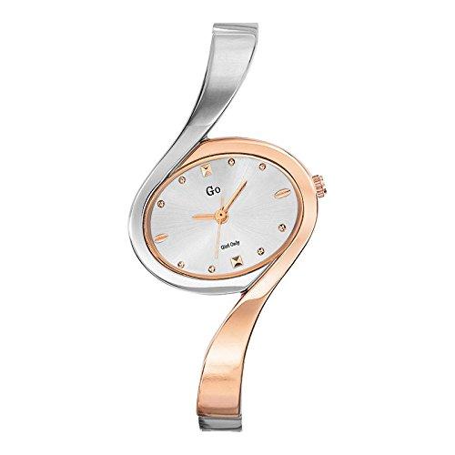 GO Girl Only–695006–Reloj Mujer–Cuarzo Analógico–Reloj Plata–Pulsera Metal Bicolor