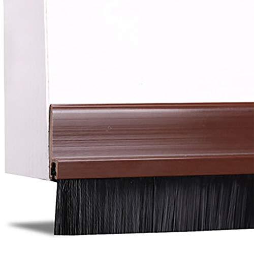 HAMILO 隙間テープ ブラシタイプ ドア下部 ストッパー すきま風防止 ブラシ 冷暖房の効率化 (ブラウン)