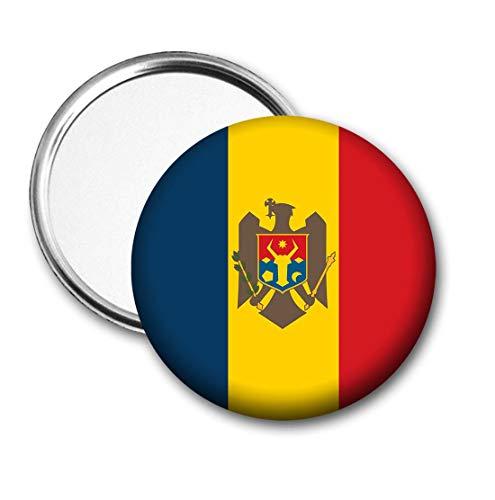 Moldavië Vlag Pocket Spiegel voor Handtas - Handtas - Cadeau - Verjaardag - Kerstmis - Stocking Filler - Secret Santa