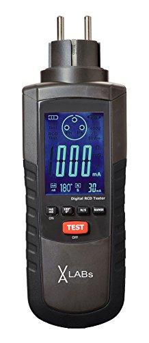 VA-LABs RCD-Tester, FI-Tester, Steckdosentester, zur schnellen Prüfung von FI-Schaltern, Prüfströme wählbar