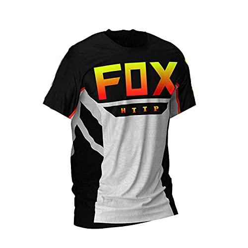 Long Sleeve Bike Jersey MTB Jersey Fox Motocross Jerseydirt Bike Downhill Jersey Cycling Jersey Men Cycling Jersey Knitted-L