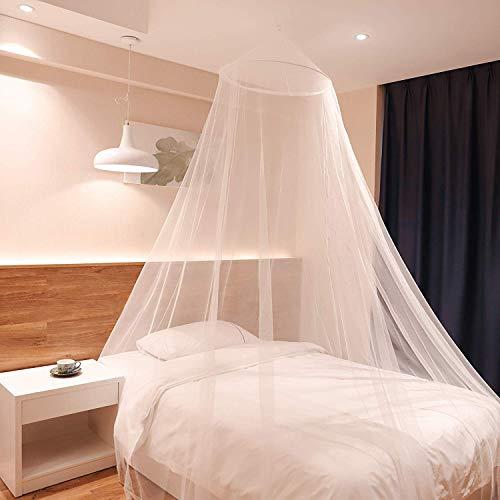 Sekey 60*220*850CM Moskitonetz Für Einzel Bett | Moskitonetz Bett | Mesh Insektennetz | Insektengitter | Schnelle und Einfache Installation