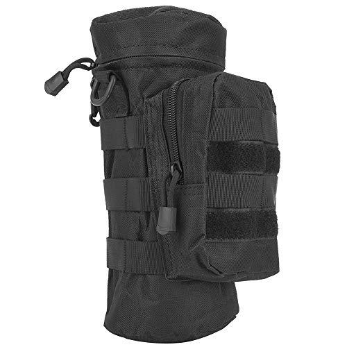 DISSURE Al aire libre portátil botella de agua bolsa titular militar Molle hervidor mochila bolsa camping senderismo correr negro