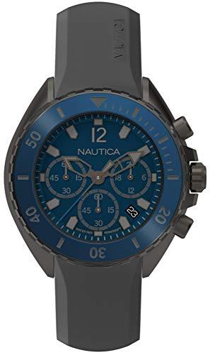 Nautica Reloj Cronógrafo para Hombre de Cuarzo con Correa en Silicona NAPNWP003