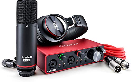 Focusrite Focusrite 2i2 Studio Pack (3rd Gen) 2 In / 2 Out Focus Light Audio Interface Set with Stickers
