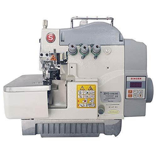 Máquina de Costura Industrial Overlock Singer 351G-131M-04E Motor Direct Drive Bivolt