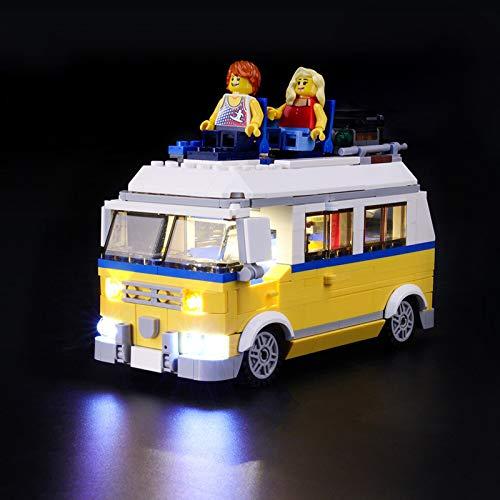 Kit De Iluminación Led para Lego Creator Furgoneta De Playa, Compatible con Ladrillos De Construcción Lego Modelo 31079(NO Incluido En El Modelo)