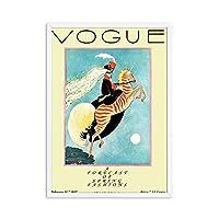 ヴォーグレディ抽象的なポスターとプリントヴィンテージキャンバスの壁アートレトロな絵画ファッション女性の写真リビングルームモダンな装飾50x70cmx1フレームなし