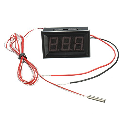 Tutoy 0,56 inch 3 bits 200~450 digitale led-thermometer afvoertester Pt100 blauw backlight