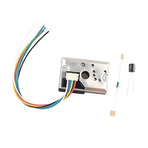 HALJIA Staub Sensor Detektor Modul Kit mit GP2Y1010AU0F Chip für Messung pm2,5 Luftreiniger Luft Klimaanlage Monitor unterstützt Arduino (Staub Sensor Kit)