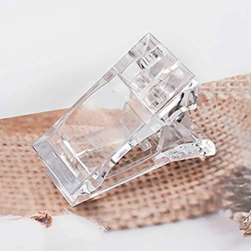 UYT 1 paquete de 10 clips de secado al aire para esmalte de uñas, clip para uñas de construcción rápida, clips de uñas para extensión de uñas de dedo, abrazaderas LED UV, kit de extensión de uñas