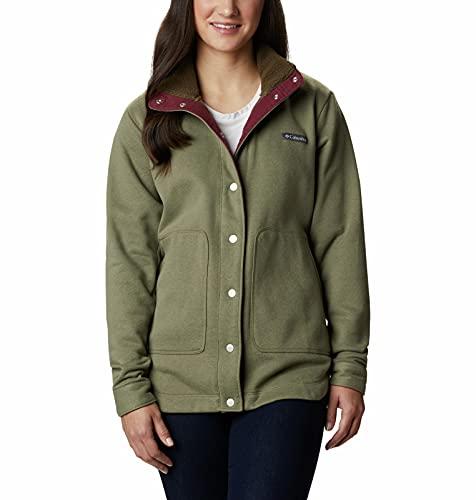 Columbia Women's Plus Size Hart Mountain Shirt Jac, Stone Green, 1X